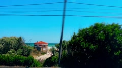 A4 Motorway View of Black Sea Beach Resort Romania Vehicle Shot Stock Footage