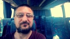 Space Time Warp Selfie Stock Footage