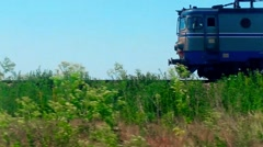 Dangerous Rail Freight Transport Romania Vehicle Shot Stock Footage