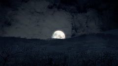 Night landscape moon big timelapse Stock Footage