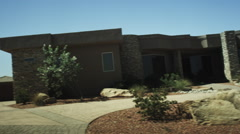 A large home in a desert area Stock Footage