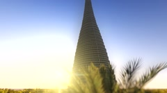 Tower of Babylon animated video Stock Footage