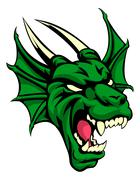 Dragon Mean Animal Mascot - stock illustration