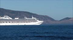 Pilot boat turns alongside cruise ship. Stock Footage