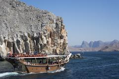 Dhow in Musandam fjords, Oman, Middle East Kuvituskuvat