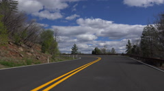 4K Driver POV Curvy Country Road - stock footage
