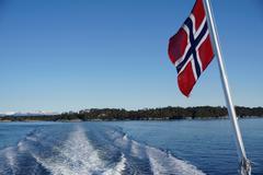 Fjord near Bergen, Hordaland, Norway, Scandinavia, Europe - stock photo