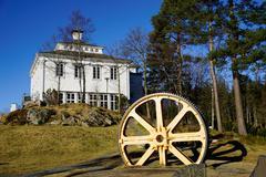 Restaurant on Mount Floyen, Bergen, Hordaland, Norway, Scandinavia, Europe Stock Photos