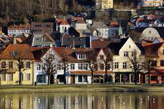Lille Lungegard lake, Bergen, Norway, Scandinavia, Europe - stock photo