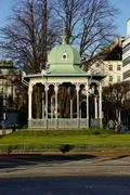 Pavilion at the Ne Olle Bulls Square, Bergen, Hordaland, Norway, Scandinavia, - stock photo