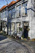 Old Houses in the Bryggen District, Bergen, Hordaland, Norway, Scandinavia, - stock photo