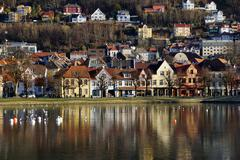 Lille Lungegard lake, Bergen, Norway, Scandinavia, Europe Stock Photos