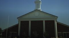 Mormon Church Driving Stock Footage