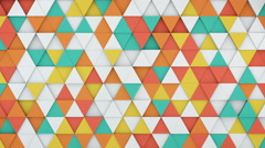 Colorful triangles extruding 3D render loopable animation 4k UHD (3840x2160) Stock Footage