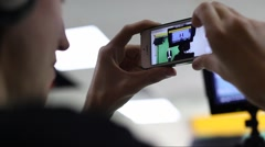 Selfie studio video production Stock Footage
