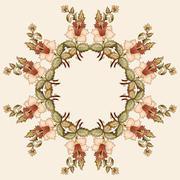 Ottoman motifs oriental design portfolio ten - stock illustration