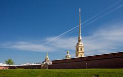 The Peter and Paul fortress in summer day - stock photo