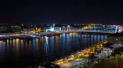Budapest at night Stock Footage