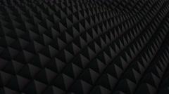 Black surface waving 3D render. Seamless loop animation 4k UHD (3840x2160) - stock footage