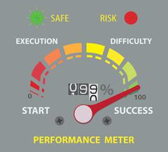 success performance conceptual meter - stock illustration