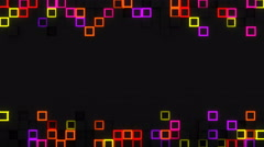 Neon glow extruded cubes 3D render loop 4k UHD (3840x2160) Stock Footage