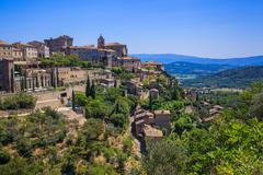 Small typical town in Provence Stock Photos