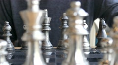 Sort chess on a chessboard. Stock Footage