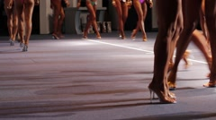 Sexy female legs walking. Stock Footage