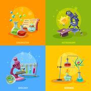 Scientific Disciplines Colorful Concept Stock Illustration
