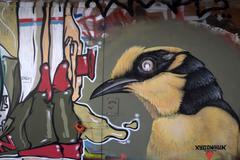 Graffiti of bird - stock photo