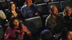 Movie Theater Audience Stock Footage