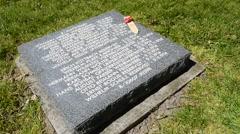 Deutscher Soldatenfriedhof Langemark / Studentenfriedhof, Belgium Stock Footage
