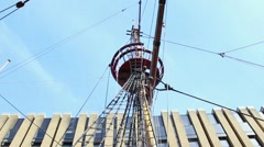 The golden hind 2 crowsnest Stock Footage