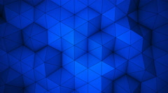 Blue triangle polygons background loopable 4k UHD (3840x2160) Stock Footage