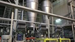 Ceramic tiles manufacturing , Ceramics Plant, Manufacturing Plant - stock footage