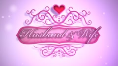 Husband & Wife - Wedding Video/Invitation LogoStinger Stock After Effects