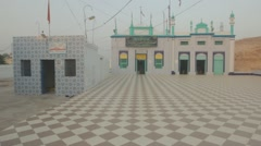 Pan shot of a Shrine Pakistan Stock Footage