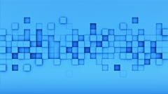 Blue extruded cubes tile 3D render loopable animation 4k UHD (3840x2160) Stock Footage
