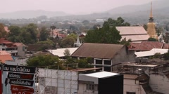 Aerial of chiang mai skyline Stock Footage