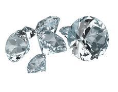 Gemstones 3d render Stock Illustration
