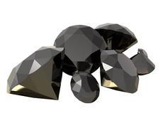 gemstones 3d render - stock illustration