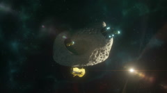 Asteroid Mining Two - stock footage