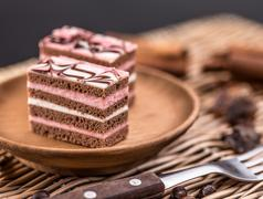Layered mini cakes - stock photo