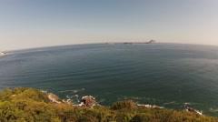 Aerial of beautiful sea in Arpoador Stock Footage