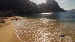 Waves crashing on seashore in Rio De Janeiro Stock Footage