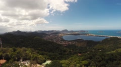Aerial of beautiful forest in Rio De Janeiro Stock Footage
