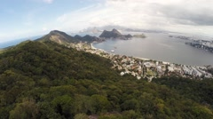Aerial of beautiful mountain in Rio De Janeiro Stock Footage
