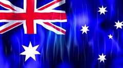Australia Flag Animated Background Stock Footage