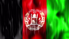 Afghanistan Flag Animated Background Stock Footage