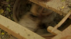 Close-up of machine in handloom, Burma Stock Footage